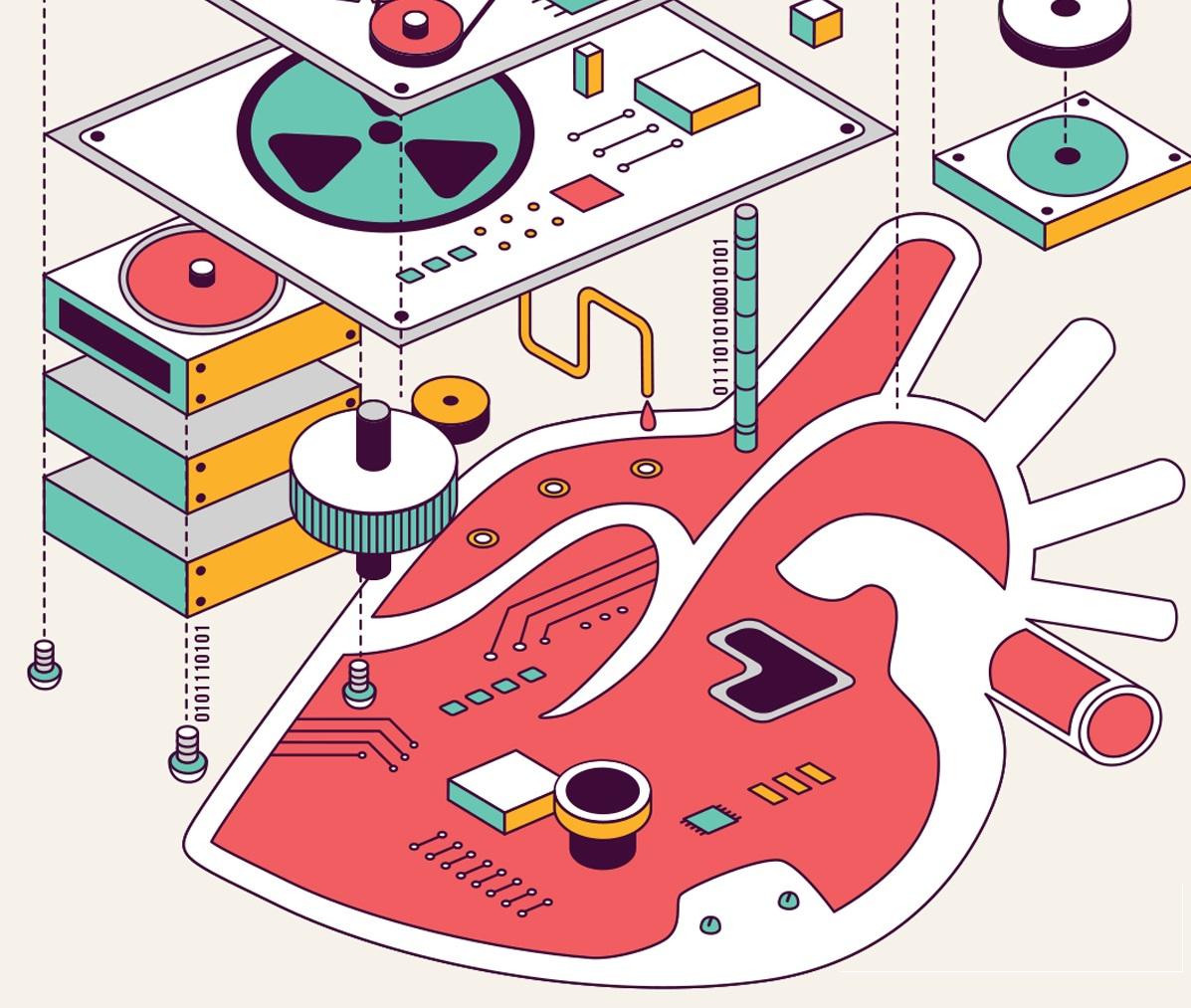 беспроводное искусственное сердце картинка