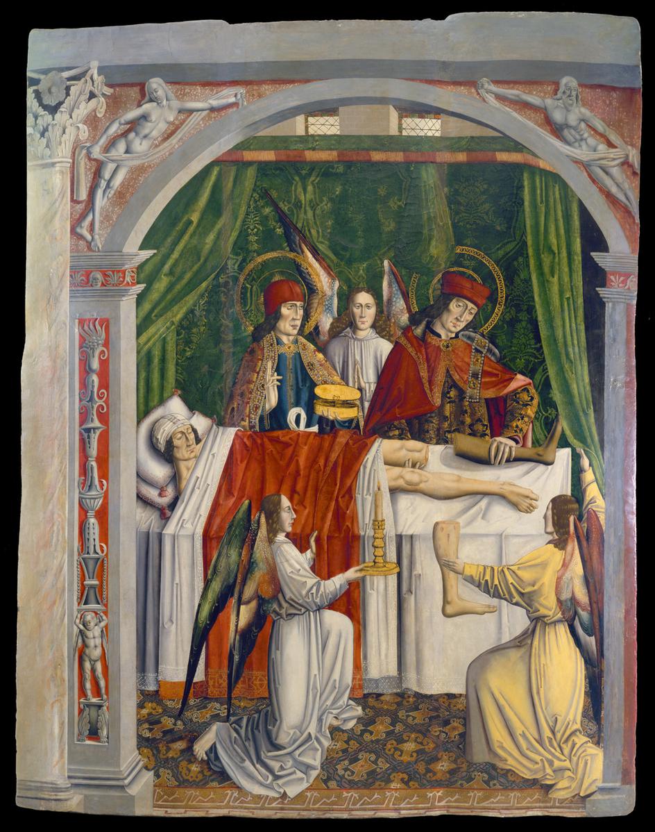 Святые Косма и Дамиан пересаживают ногу